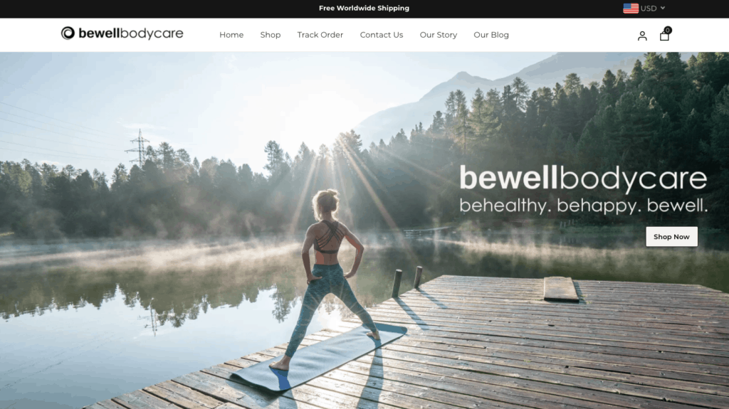 bewellbodycare, shopify website for health and beauty, top dropshipping store using ecomsolid theme