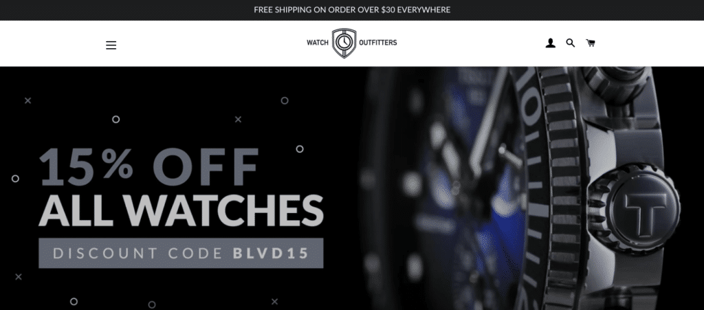 watch outfitters, top dropshipping stores for watch