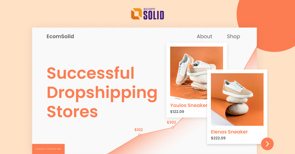 shopify dropshipping store examples, top successful shopify stores, online stores for inspirarion 2021, ecomsolid