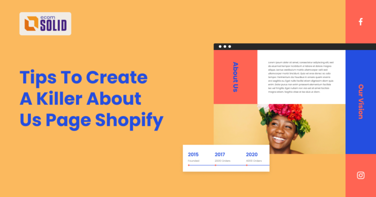 about us page shopify, how to create a killer about us page on shopify store, ecomsolid