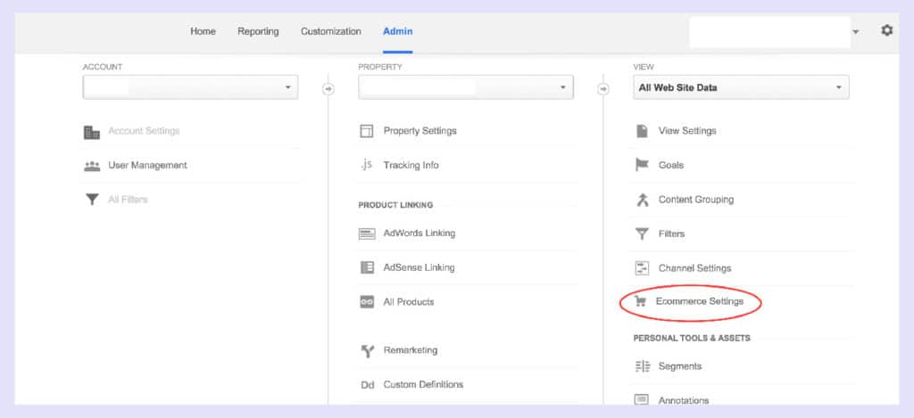 add google analytics to shopify, ecommerce settings