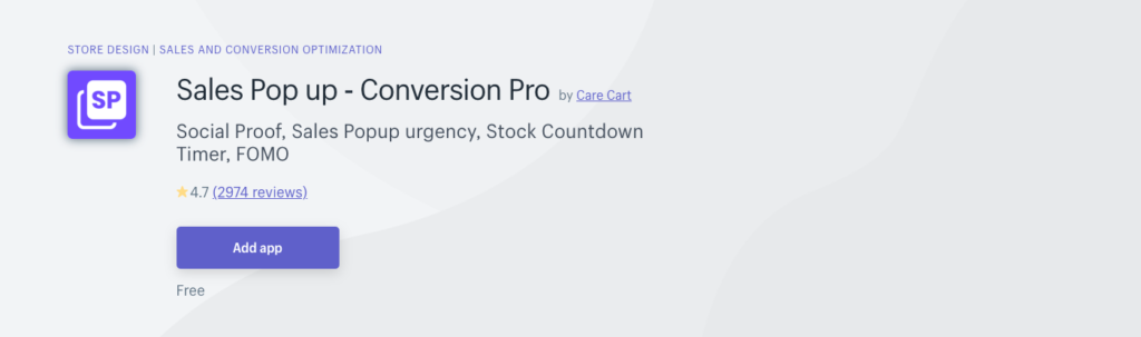 Sales Pop up and Conversion Pro