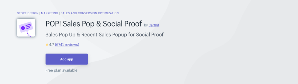 pop sales pop and social proof