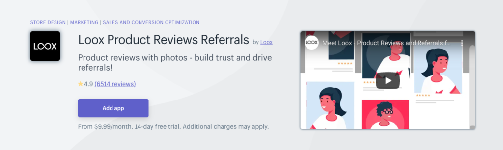 Loox Product Reviews Referrals