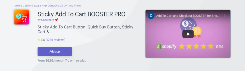 Sticky Add To Cart BOOSTER PRO
