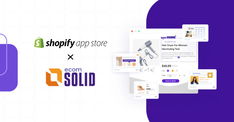 EcomSolid is on Shopify app store, EcomSolid Theme and Page Builder