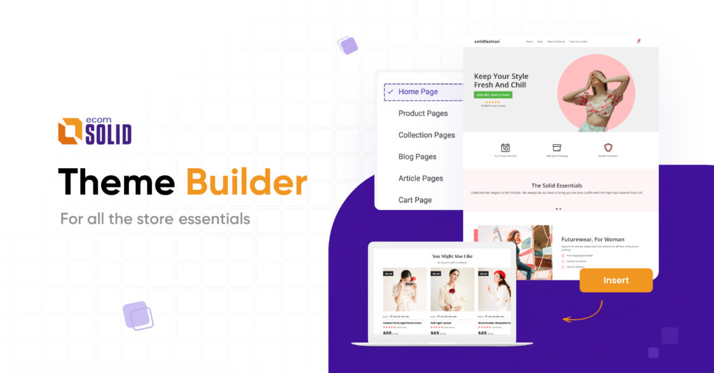 EcomSolid Theme Builder, Shopify theme