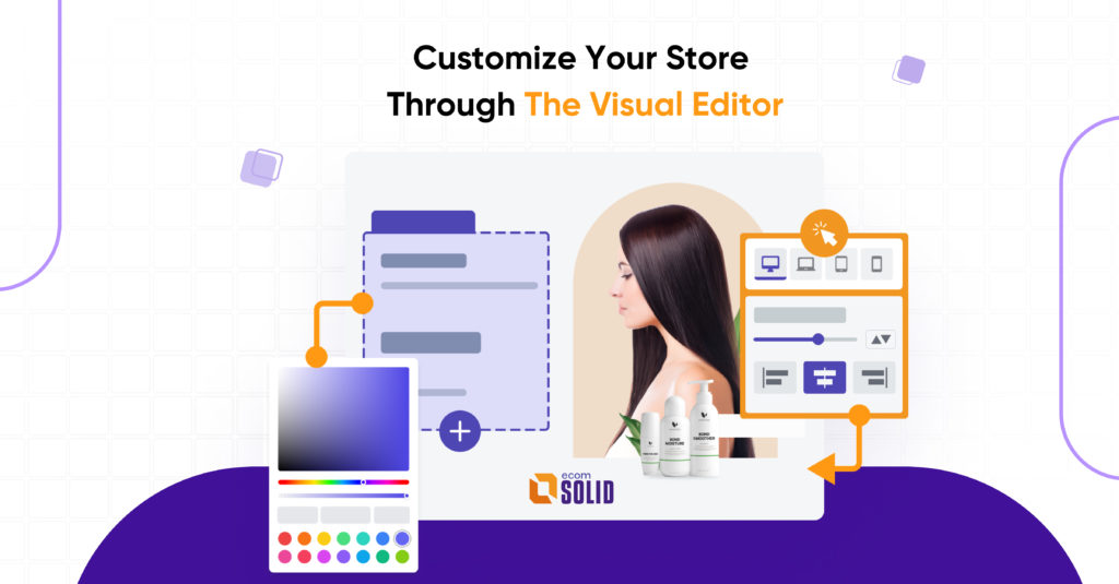 EcomSolid visual editor
